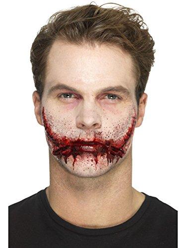 Smiffys Zugenähter Mund mit Klebemittel Halloween Zombie Kostüm - Zubehör Für Ein Zombie Kostüm
