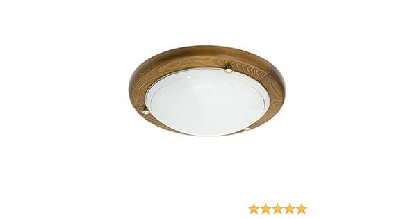 Plafoniere Con Bordo Legno : Plafoniere globo plafoniera legno scuro vetro satinato