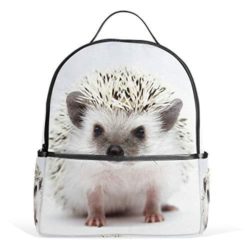 Rucksack für Damen, Mädchen, niedlich, Igel-Design, klein, für Studenten, für Hochschulreisen, Schulranzen