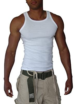4 Pack of men's cotton sleeveless tank top - Kadeo