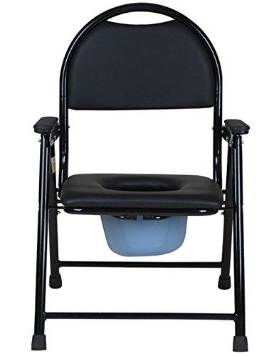 LI JING SHOP - Klappbewegung Toilettenstuhl Verdickung Stahlrohr Rückenlehne und Handläufe Anti-Rutsch-Ottomans Design Alter Mann Schwangere Frauen verwenden Stuhl (Chair Möbel Ottoman)