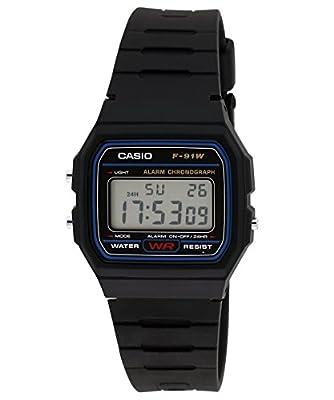 Casio Vintage Series Digital Black Dial Men's Watch - F-91W-1DG (D002)