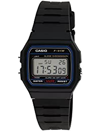 Casio Youth Digital Black Small Dial Unisex Watch - F-91W-1DG (D002)