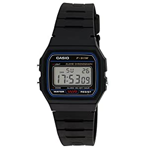 Casio Vintage Series Digital Black Dial Men's Watch - F-91W-1DG (D002)