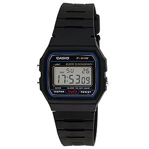 Casio Youth-Digital Black Small Dial Men's Watch – F-91W-1DG (D002)