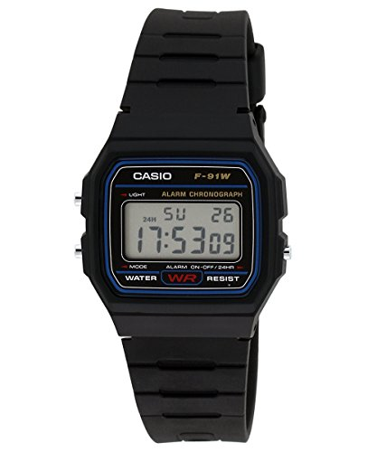 Casio Vintage Series Digital Black Dial Men\'s Watch - F-91W-1DG (D002)