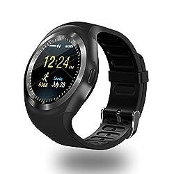 Bluetooth Smart Watch, Mamyok Smartwatch Uhr Intelligente Armbanduhr Fitness Tracker Armband Sport Uhr Mit Schlafanalysealarmekameraaufnahmeromte Capturegps-routenverfolgung Kompatibel Mit Android Smartphone (Y1)