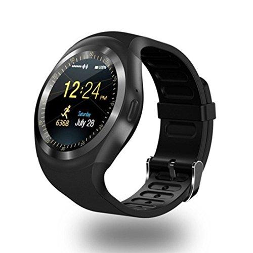 MAMYOK Bluetooth Smart Watch, Smartwatch Uhr Intelligente Armbanduhr Fitness Tracker Armband Sport Uhr mit Schlafanalyse/Kompatibel mit Android Smartphone(Y1) (Schwimmer Fitness-tracker)