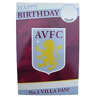 Aston Villa (AVFC) Football Birthday Card for Any Age by Danilo - AV003