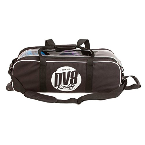 DV8 Tactic Triple Tote kein Schuh Tasche Bowling Bag, Schwarz
