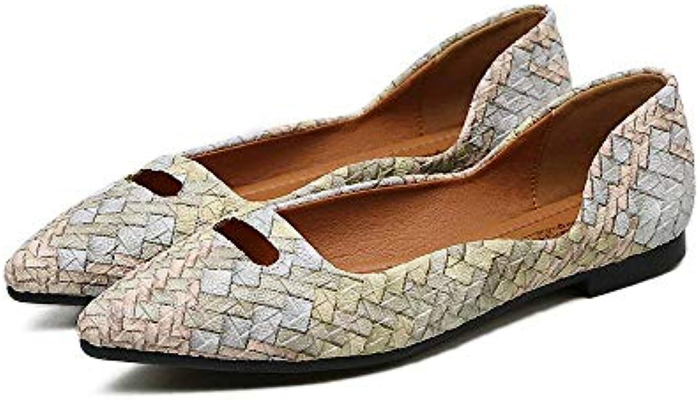 Eeayyygch Escarpins Simples Chaussures Plates Chaussures Chaussures Plates Plates Femelles Bouche Peu Profonde Bouche avec des Couleurs...B07K8G16ZPParent 4d75e2