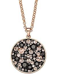 Noelani Damen-Kette mit Anhänger Swarovski Elements Messing rhodiniert Kristall weiß 80 cm - 509305