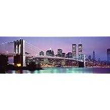 Empire Merchandising Skyline - Póster de Nueva York (incluye 20 adhesivos para fijación a pared
