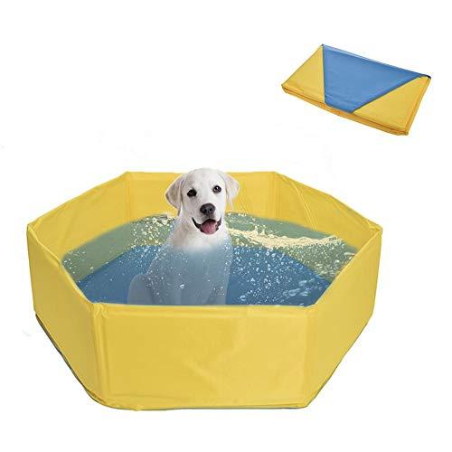 windyday Hundepool für Hunde Swimmingpool Planschbecken Hundebadewanne Haustierpool mit Ablassventil Katzenpool Faltbare Haustiere Badewanne