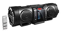 Jvc Rv-nb100b Bluetooth Portable Cd Boomblaster With Lightning Dock & Dab