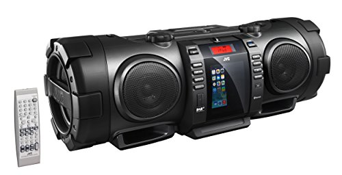 Dock Fm Ipod Radio (JVC BoomBlaster RV-NB100BE tragbare CD-System (FM/DAB+ Tuner, CD-R/RW, 40 Watt, USB) mit geschlossenem Apple iPod-Dock schwarz)