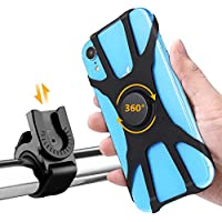 Bingcute Universal Bicycle & Motorcycle Handlebars Phone Holder - Bike Phone Mount Fits for Smartphone X/6/7/8 Plus, S9/S8 Plus and All Android Mobile Phones