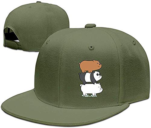 lijied YHuseki We Bare Bears Plain Adjustable Snapback Hat Baseball Cap Unisex Navy ForestGreen (Dekoration Cap Santa)