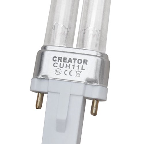 [mia.home®] UVC Ersatzröhre Ersatzlampe UV Leuchtmittel Ersatz Lampe UV-C Röhre für UVC Gerät 5W/7W/9W/11W/18W/24W/36W/55W (11 Watt G23)
