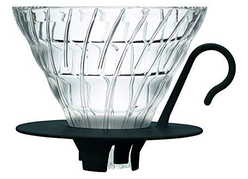 Hario V60 Glass Coffee Dripper, Size 02, Black