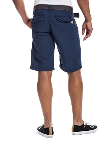 Timezone Herren Shorts RussellTZ chino incl.belt Blau (estate blue 3373)