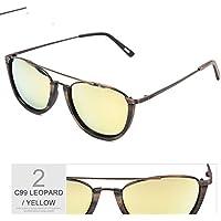 TL-Sunglasses Vintage Unisex Outdoor Occhio di gatto Occhiali da sole per uomini/donne di UV400,Multi Silver