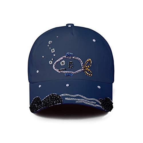 ECYC Bling Strass Casquette de Baseball Femmes Coton Chapeau de Soleil pour la pêche Plage en Plein air Sport