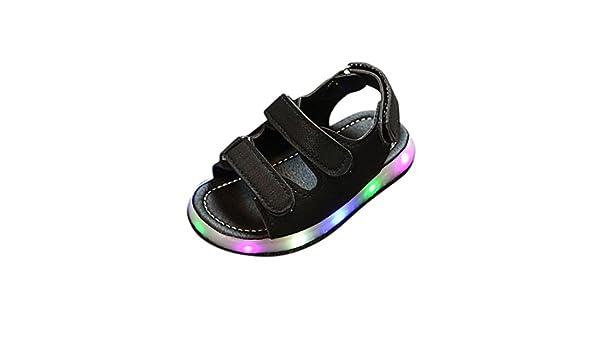 cdcb57905867f ZJENE31 Enfant En Bas âGe BéBé Nouveau-Né Led Sandales Boucle Sneaker De Course  LumièRe Jusqu à GarçOns Filles Chaussures Clignotant Espadrilles Lumineuses  ...