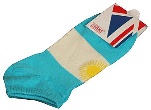 Lot de 2 Flag chaussettes en coton chaussettes pour hommes Argentine
