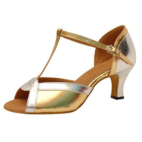Yff Cadeau Femmes Chaussures De Danse Danse Latine Danse Tango Chaussures De Danse 6cm D'or