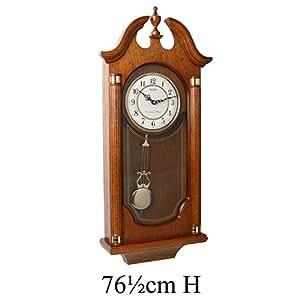 Watching Clocks Horloge murale en bois massif avec carillon Westminster