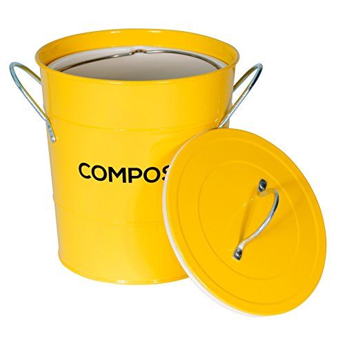 Zoom IMG-2 metal kitchen compost caddy composting