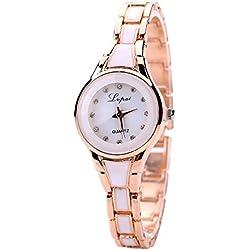 Sunnywill LVPAI Frauen Gold Luxus Schöne Mode Herz Anhänger-Uhren für Frauen Mädchen Damen