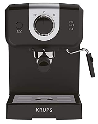 Krups XP320840 Opio Steam and Pump Coffee Machine, Black from Krups