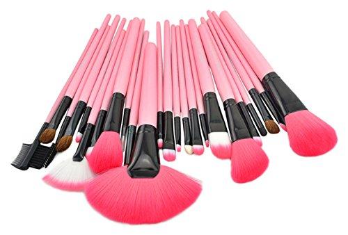 Bigood Trousse Maquillage Professionnel Lot de 24 Pinceaux Cosmétique Pinceau Sourcils