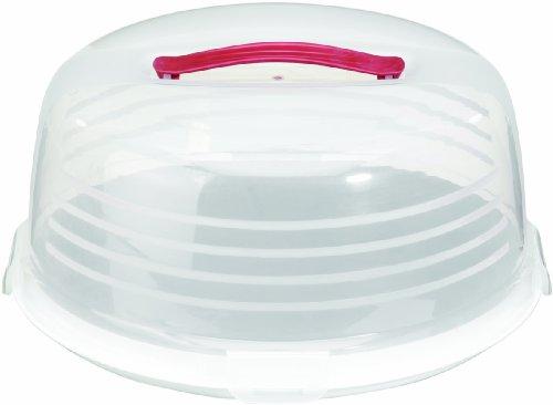 Curver 175246 Boîte à Cake Rond Transparent / Blanc