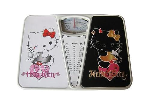 Hello Kitty hk-b80044–Personenwaage (Analog, Schwarz, Weiß)