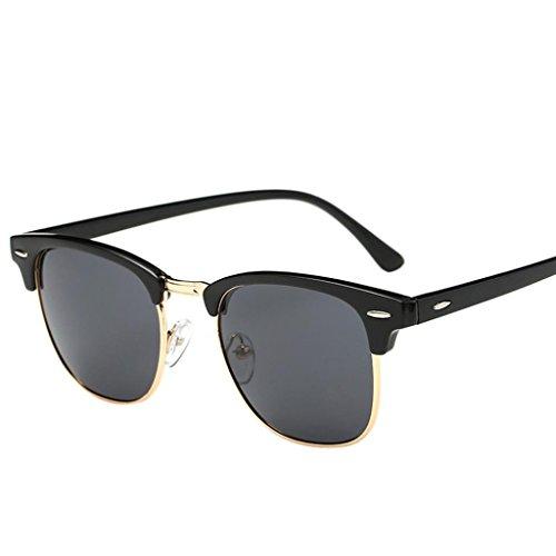 SMARTLADY Gafas de sol retro Clásicos para hombre y mujer (A)
