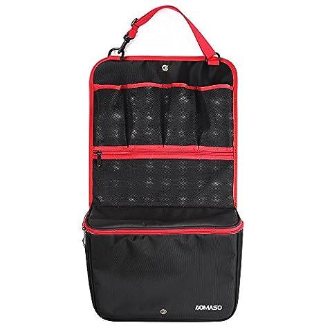 Aomaso Siège arrière de voiture Organizer Cooler Multi-Pocket Sac de rangement Voyage (Heat-conservation) poches et de stockage Poches filet noir et