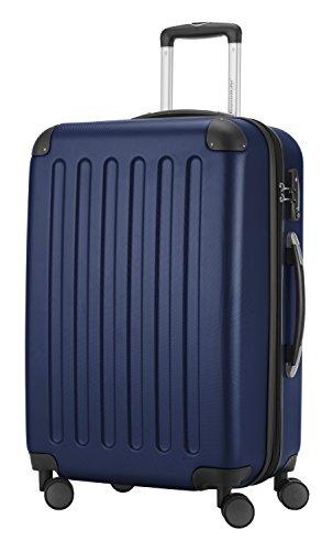 HAUPTSTADTKOFFER® 82 Liter Reisekoffer · SPREE · TSA · MATT · NEU 4 Doppel-Rollen · (in 12 Farben) + LogiLink® Flugzeug Audio Adapter (Schwarz) Dunkelblau