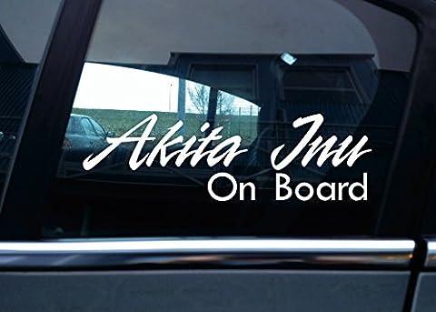 Akita Inu On Board Hund, Auto Vinyl Aufkleber (Akita Inu Hund)