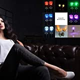 fengwen66 Light Up LED Bling Ear Studs LED Luminoso Orecchini a Perno Dance Party Bianco Tipo di Batteria: LR521
