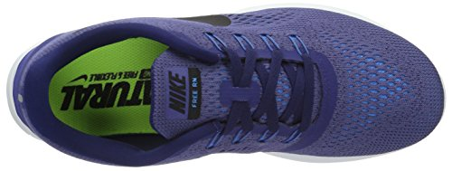 Nike Free Rn, chaussure de sport homme Viola (Dk Purple Dust/Black/Loyal Blue)