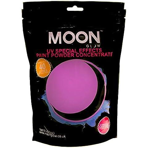 Moon Glow - 400 g de pintura en polvo UV Conjunto Púrpura - Concentrado de pintura en polvo para efectos especiales de neón para fiestas - Para hacer hasta 40