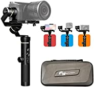 FeiyuTech G6 Plus Gimbal Stabilizer Multi use for Phone/DSLm Mirrorless/Action Cameras,3-Axis Handheld stabili