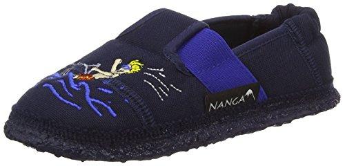 Nanga Wasserski Jungen Flache Hausschuhe Blau (32)