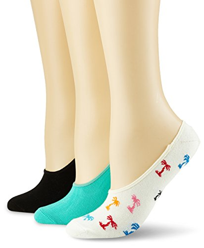 Happy Socks Limer, Calcetines Cortos para Mujer, Blanco (Weiß 1000), Talla única(Pack de 3) Happy Socks