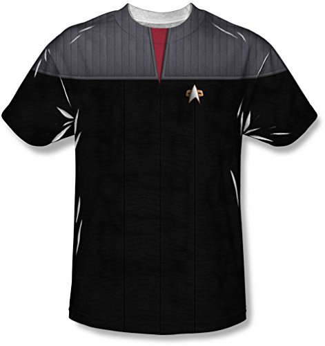 Star Trek - Herren Tng Film Befehls Uniform T-Shirt, XXX-Large, White