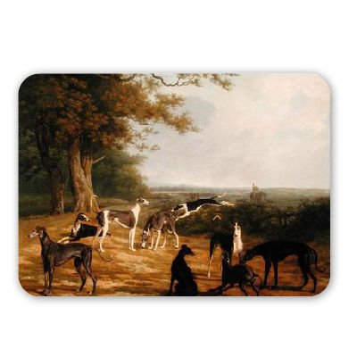 nine-greyhounds-in-a-landscape-oil-on-mouse-mat-art247-highest-quality-natural-rubber-mouse-mats-mou