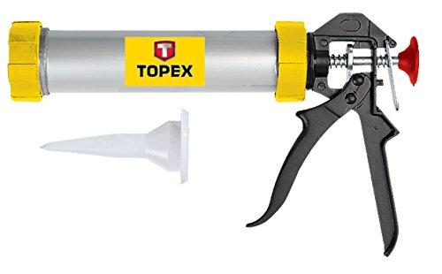 TOPEX 21B360 - PISTOLA PARA TUBOS DE SILICONA (600 ML)